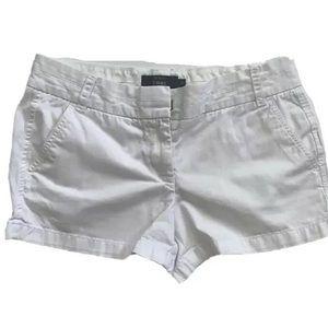 J.Crew Women's White Classic Chino Shorts Size 6